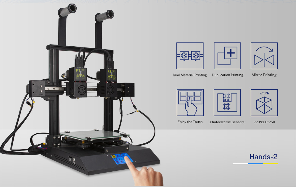 TENLOG Hands 2 DMP 3D Printer Function