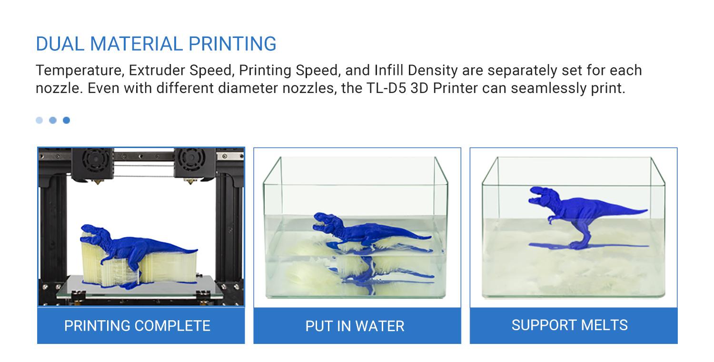TL-D5 Dual Material Printing