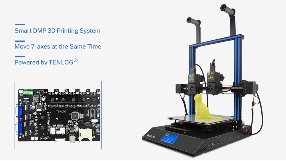 Tenlog DMP Independent Dual Extruder 3D Printer